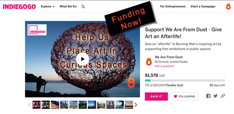 IndieGoGo Crowdfund Launch